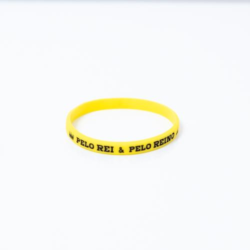 Pulseira Fina - Pelo Rei & Pelo Reino - Amarela  - JesusCopy