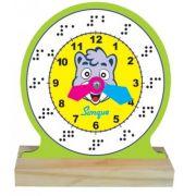Relógio Braille - Brinquedo em Madeira - Loja Civiam