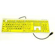 Teclado para Baixa Visão Slim Teclas Amarelas Letras Pretas - Loja Civiam