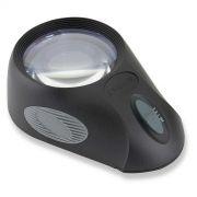 Lupa 5x com Suporte Iluminador LED - Loja Civiam