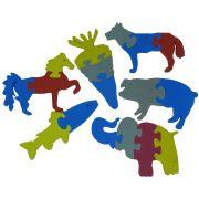 Quebra Cabeça Animais que Flutuam 6 peças - Loja Civiam