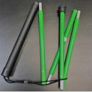 Bengala Verde para Baixa Visão Dobrável em 5 partes - 1,10m - Loja Civiam
