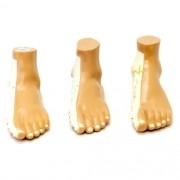 Conjunto com 3 modelos de pés