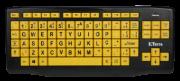 Teclado Ampliado Teclas Amarelas Letras Pretas USB - Padrão ABNT2