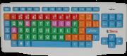 Teclado Colorido e Ampliado para Baixa Visão USB - Padrão ABNT2 - Loja Civiam