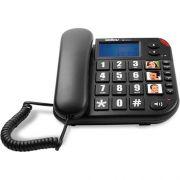 Telefone com Fio e Teclas Ampliadas e Identificador de Chamadas