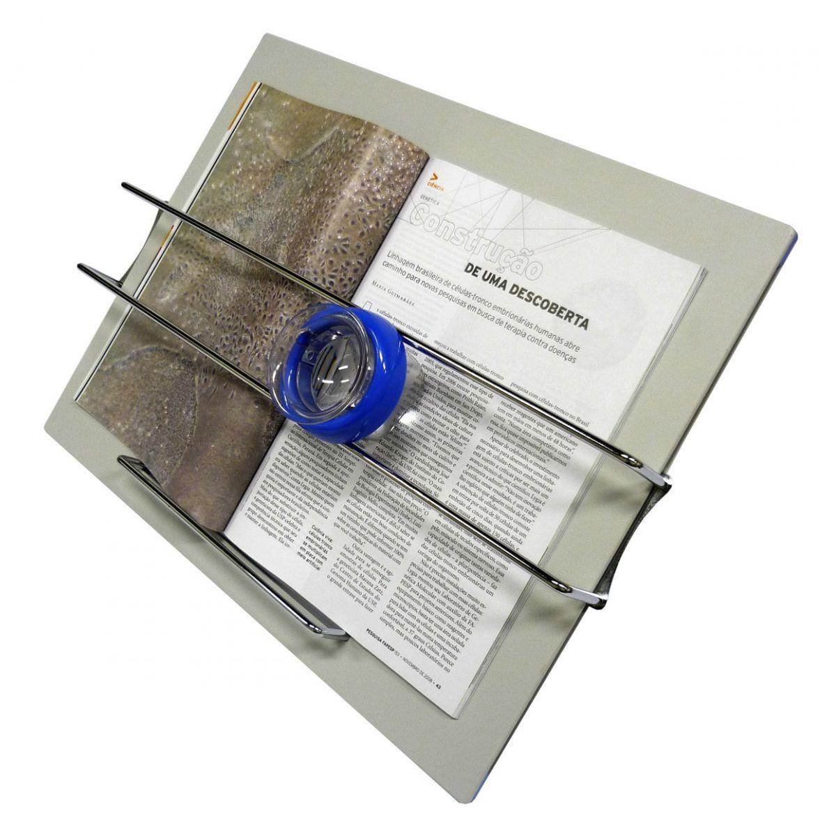 Prancha de Leitura com Lupa Deslizante 6X