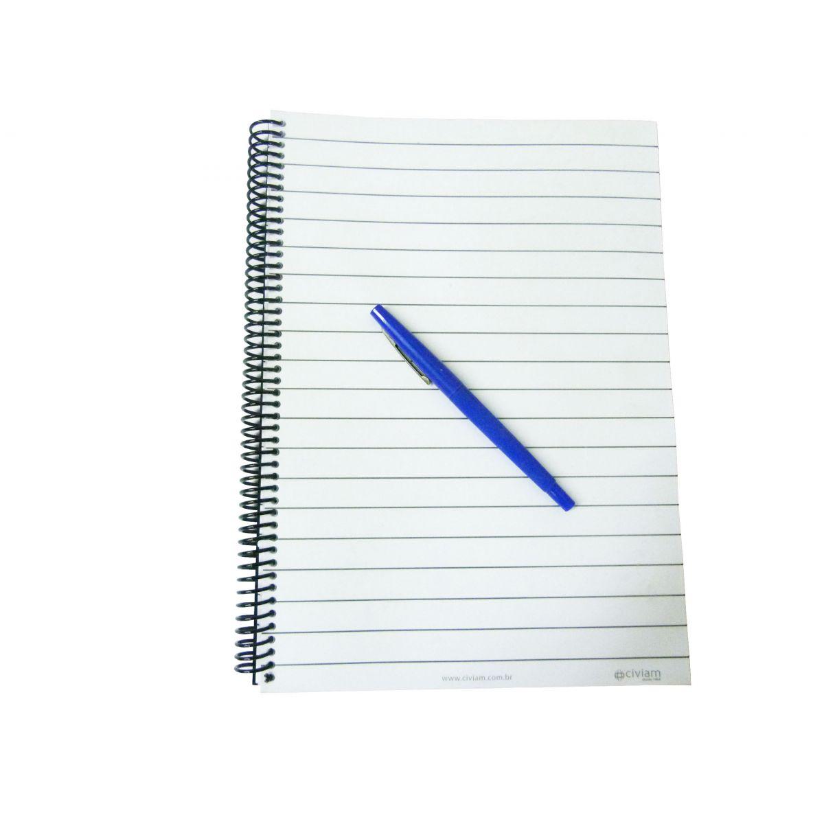 Caderno com Pauta Ampliada para Baixa Visão
