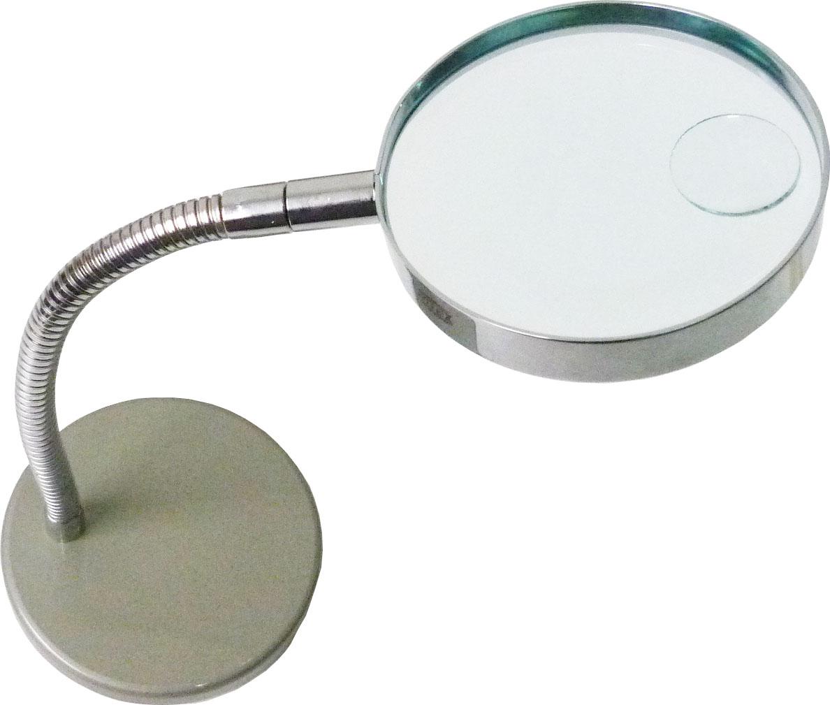 Lupa de Mesa 2X com Haste Flexível Bifocal