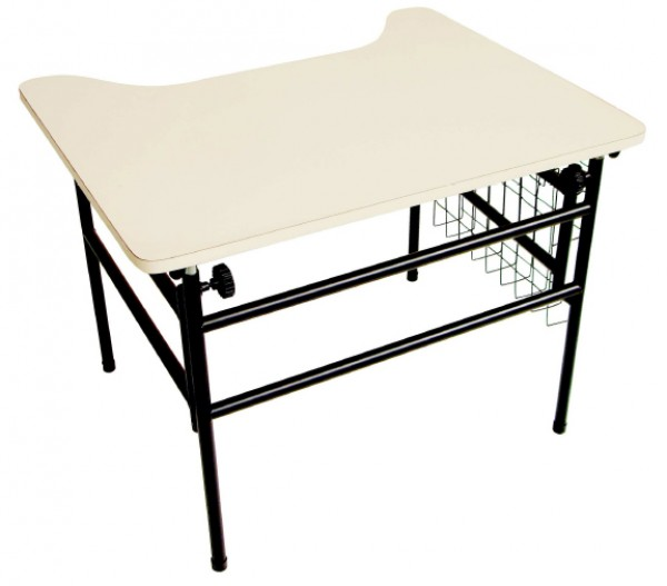 Mesa Adaptada para Cadeirante - Modelo Estudante - Bege