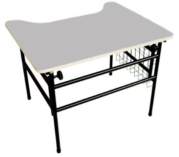 Mesa Adaptada para Cadeirante - Modelo Estudante - Cinza
