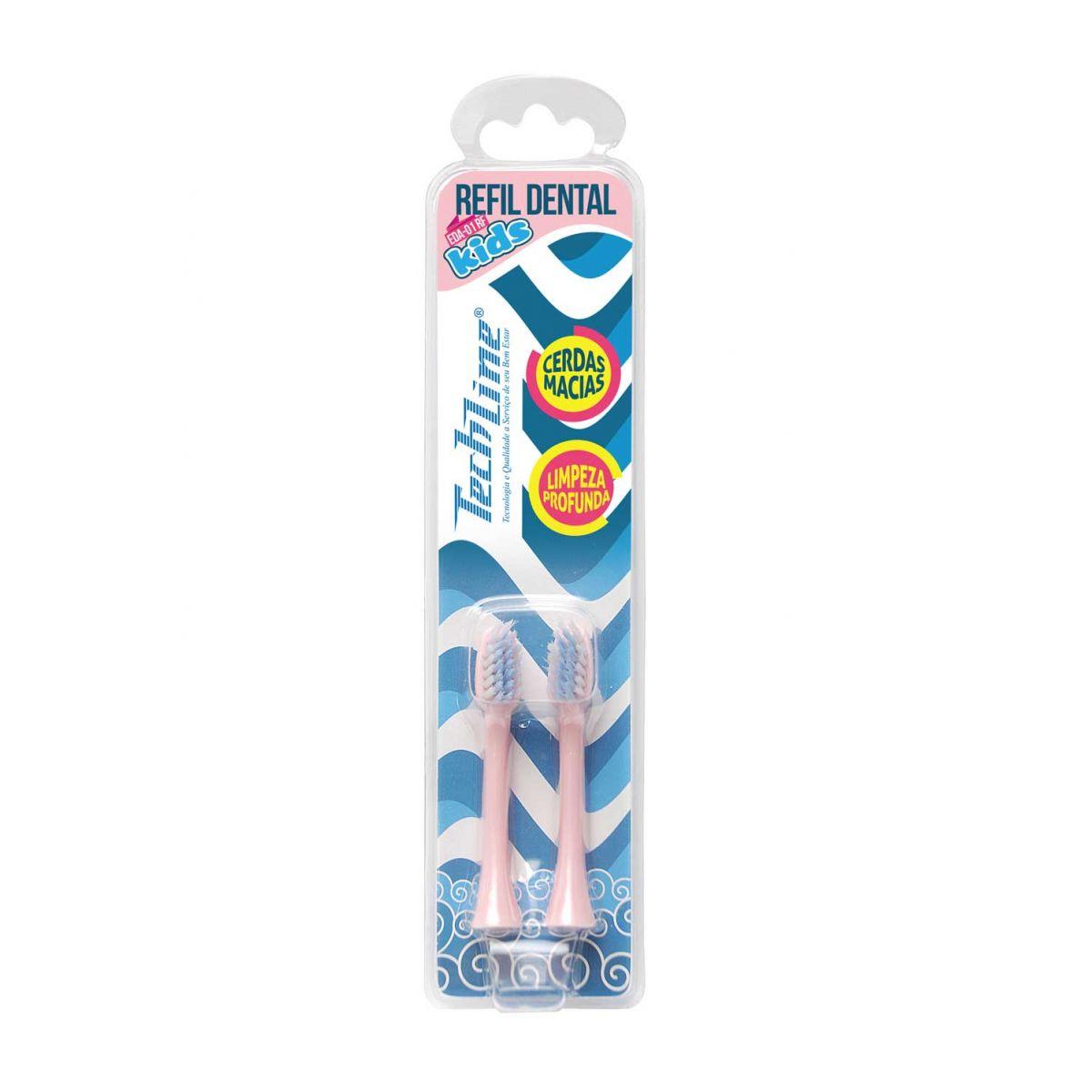 Refil para Escova Dental Rosa Porco