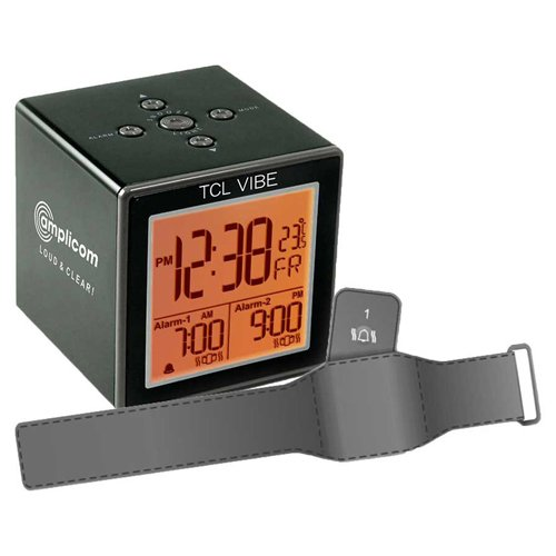 Despertador Digital com Pulseira de Vibração para Deficientes Visuais