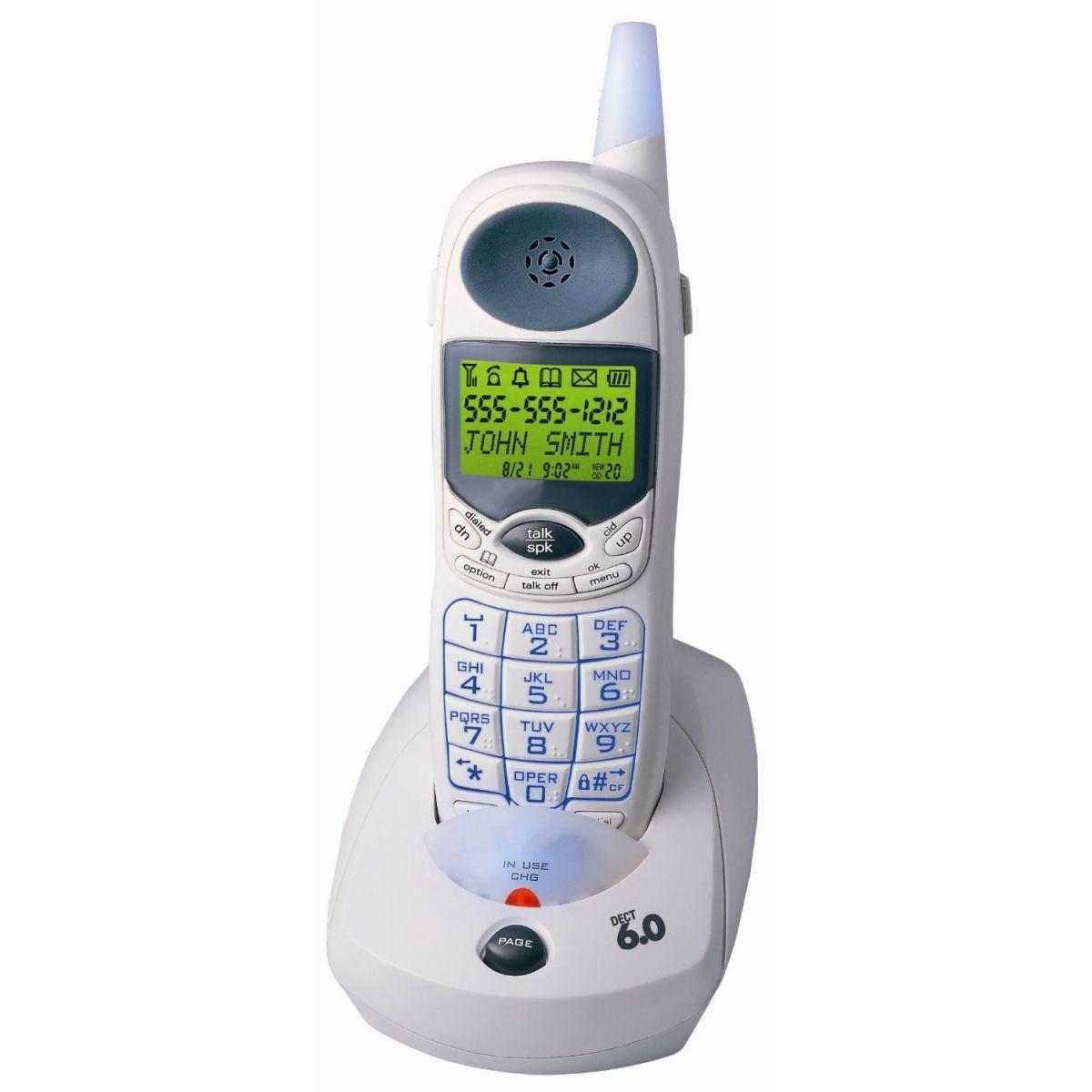 Telefone sem Fio com Teclas em Braille