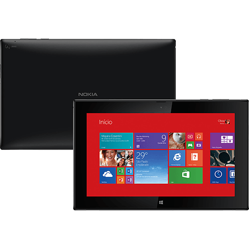 Tablet Nokia Lumia 2520 com Windows 8.1 RT e tela IPS
