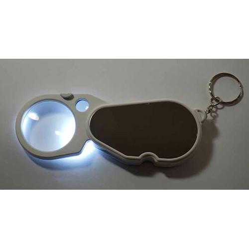 Lupa 3x de bolso com luz bifocal