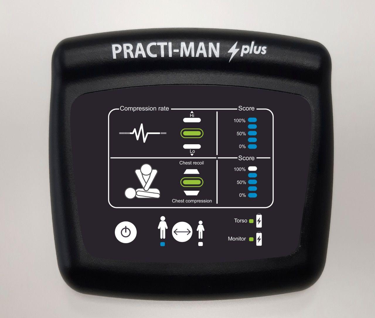 Manequim RCP para Treinamento - Practi-Man Plus com Painel Eletrônico Wireless