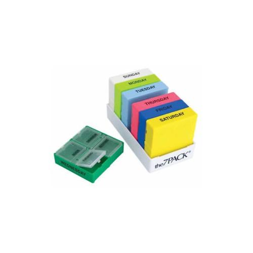 Organizador de remédios colorido