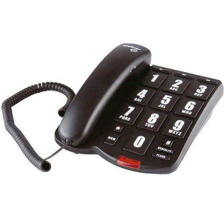 Telefone com Fio e Teclas Ampliadas para Baixa Visão