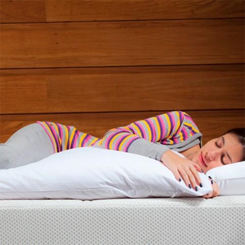 Travesseiro de corpo Bestpluma 150x45cm