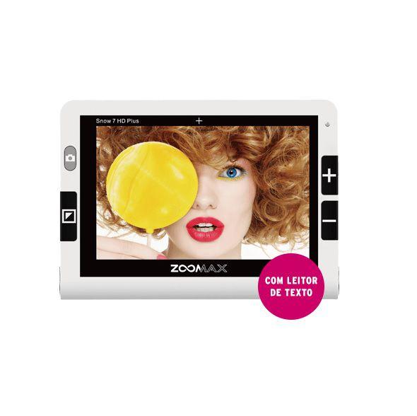 Vídeo Ampliador Portátil Zoomax Snow 7'' HD PLUS com Leitor de Texto