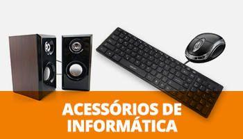teclado, mouse, caixas de som e acessórios para informática