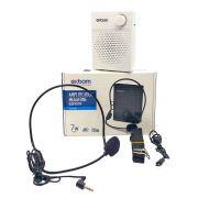 Amplificador Megafone Bluetooth com Headset 7W Bateria 1200mAh Recarregável Alça de Ombro Exbom CS-B16BT Branco