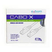 Cabo de Rede Patch Cord de 30 Metros CAT5E Azul Exbom CBX-N5C300