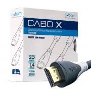 Cabo HDMI 5 Metros Macho X Macho V.1.4 Emborrachado Blindado com Filtro Exbom CBX-H50SM Preto