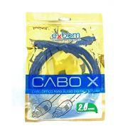 Cabo Óptico para Áudio Digital OD4.0 Toslink com 2 metros Preto Exbom CBX-OAG20