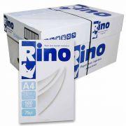 Caixa de Papel A4 Sulfite 210mm x 297mm 75g Branco Rino / 10 Resmas com 500 folhas cada