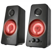 Caixa de Som 2.0 18W RMS Som Potente Iluminação LED Pulsante Reage ao Ritmo da Música Trust GXT 608 Tytan