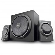 Caixa de Som com Subwoofer Speaker Set Yuri 2.1 120W com Fio Som Potente Graves Dinâmicos Powerful Bass Trust