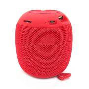 Caixa de Som Portátil 3W Bluetooth 4.2 Entrada USB Micro SD Auxiliar P2 Rádio Função Atende Telefone XG4 Vermelha
