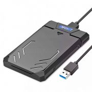 Case Externo USB 3.0 Fast 5Gbps apoio UASP para HD SSD SATA II 2.5