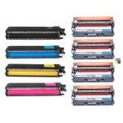 Compatível: Combo 4x Fotocondutor DR210 + Kit Colorido de Toner TN210 para Brother HL3040 HL3045 HL3070 HL3075 9320 9325