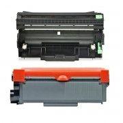Combo / Cartucho de Cilindro Compatível Brother DR2340 + Toner TN2340 TN2370 TN660 / L2320D L2360DW L2360 L2540DW L2740DW