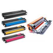 Combo / Fotocondutor Compatível DR210 + Kit Colorido de Toner Compatível TN210 para Brother HL-3040CN HL-3070 MFC-9320CW