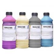 Compatível: Kit 4 Cores Tinta Pigmentada Qualy-Ink Série 504 / 544 para Epson L3150 L4150 L5190 L6190 CMYK 4 de 1L