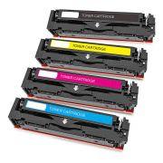 Compatível: Kit Colorido de Toner CF530A CF531A CF532A CF533A 205A para HP M180n M180nw M181 M181fw M154 M154a M154nw