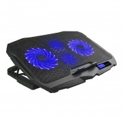 Cooler para Notebook Gamer com 4 Coolers Superfície de Metal Regulagem de Altura Portas USB Ingvar Warrior AC332