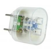 DPS iClamper Pocket X 2PN para Entrada (Equipamento) Padrão NEMA 2P e Saída (Rede) Padrão Brasileiro 2P Transparente
