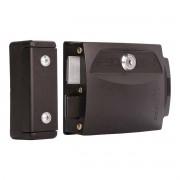 Fechadura Elétrica Para Portão Social 12V com Kit de Instalação Ipec F90 A2225 Preta