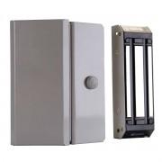 Fechadura Magnética Para Porta de Vidro Trava Eletromagnética Eletroímã 150 Kg Ipec M150 Eco A2077