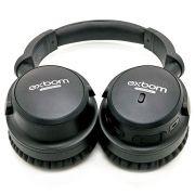Fone de Ouvido Bluetooth com Cancelamento de Ruído ANC Dobrável Noise Cancelling P2 Auxiliar Microfone Exbom HF-AR6BT