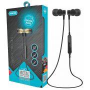 Fone de Ouvido Bluetooth Metal Smart Wireless Extra Bass Microfone Embutido Kimaster K27
