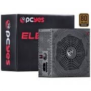 Fonte ATX 12V 600W Real 80 Plus Bronze com PFC Ativo PCYES Electro V2 Series