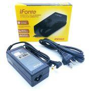 Fonte para Notebook iFonte AC-01 Compatível para Acer 65W 19V 3.42A Bivolt Conector 5.5 x 1.7mm Pino Amarelo