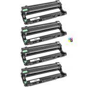 Compatível: Kit 4x Fotocondutor DR221 para Brother DCP-9055 MFC-9130 9140 9330cdw HL-3140 3170 3150cdw / CMYK / 15.000