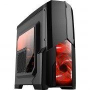 Gabinete Gamer Centauro Preto 2 Fan 120mm com LED Vermelho Mymax